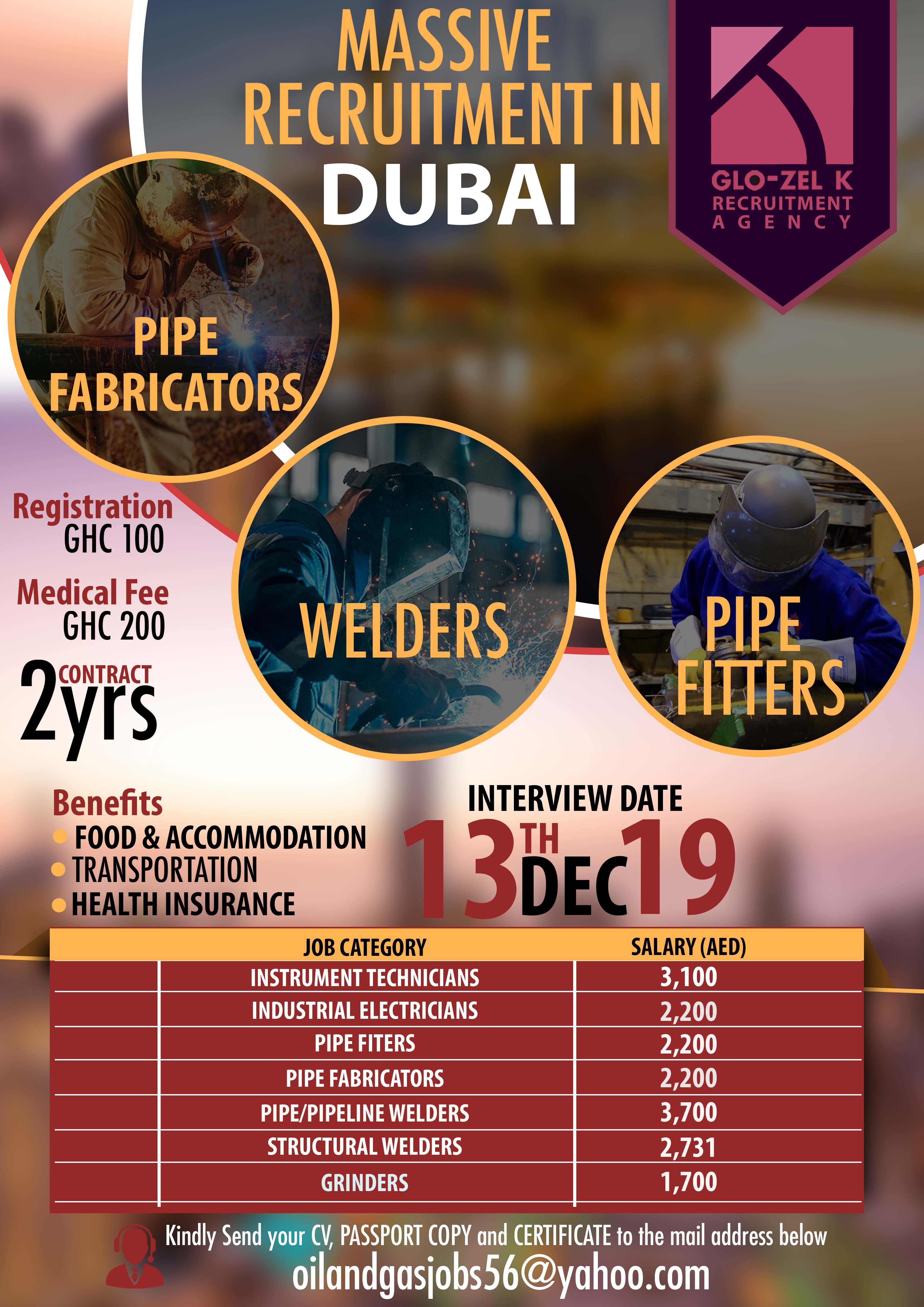 Massive International Oil & Gas Recruitment in Ghana  at Glo- Zel K 1